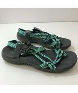 SKECHERS Ladies Reggae Loopy Sport Sandals MINT/WHITE/GREY Size 7 - $42.80