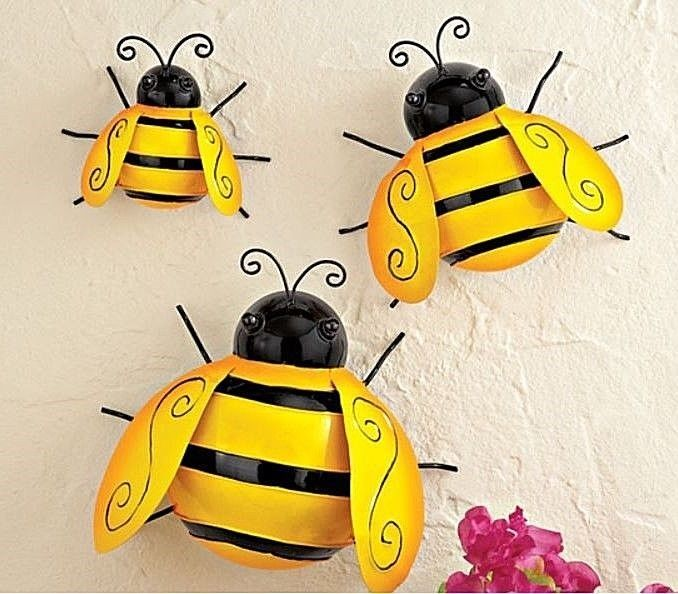 3 Outdoor Metal Bumble Bees Garden Bugs Wall and 45 similar items