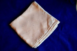 "Vintage Vera Neumann Silk Scarf Peach Oblong handrolled 52"" x 12.5"" - $10.62"