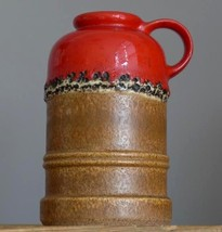 Vintage 60-70's STEULER Keramik 447-20 Vase West German Pottery Fat Lava... - $21.77