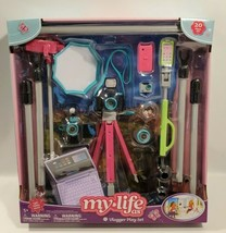 """My Life As Vlogger 20 Piece Gray Teal Accessories Play Set for 18"""" Doll NEW - $14.50"""