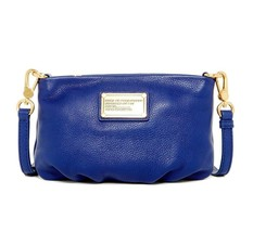 New MARC By MARC JACOBS Classic Q Percy Leather Crossbody Bag Mineral BL... - $168.00