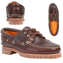 NEW! TIMBERLAND WOMEN'S HERITAGE NOREEN 3 EYE HANDSEWN BROWN BOAT SHOES ... - $66.99