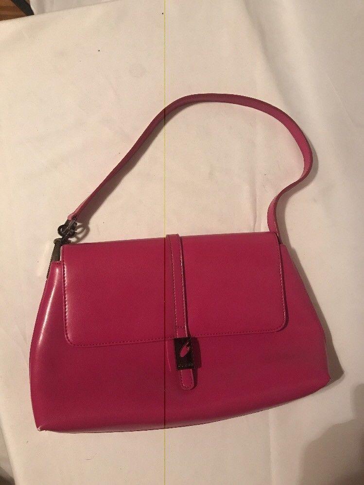 Vintage Guess Handbag - Hobo Satchel Pink/ Fuchsia 1960's - $29.02