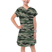 Military Camouflage Girls Cotton Hoodie Dress - $46.99+