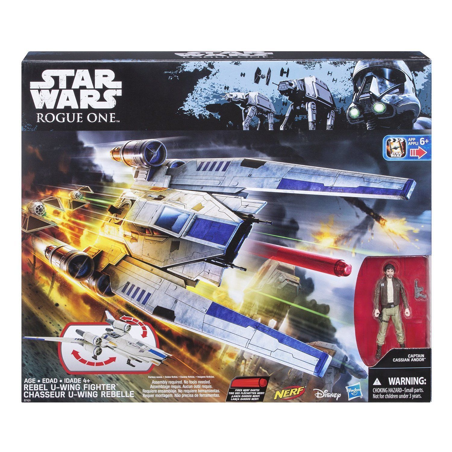Image 2 of Star Wars Rogue One Rebel U-Wing Fighter Vehicle, Hasbro, 6+