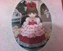 """Precious Moments Classic doll """"RACHAEL"""" 16"""" BROWN HAIR RED DRESS - $34.65"""