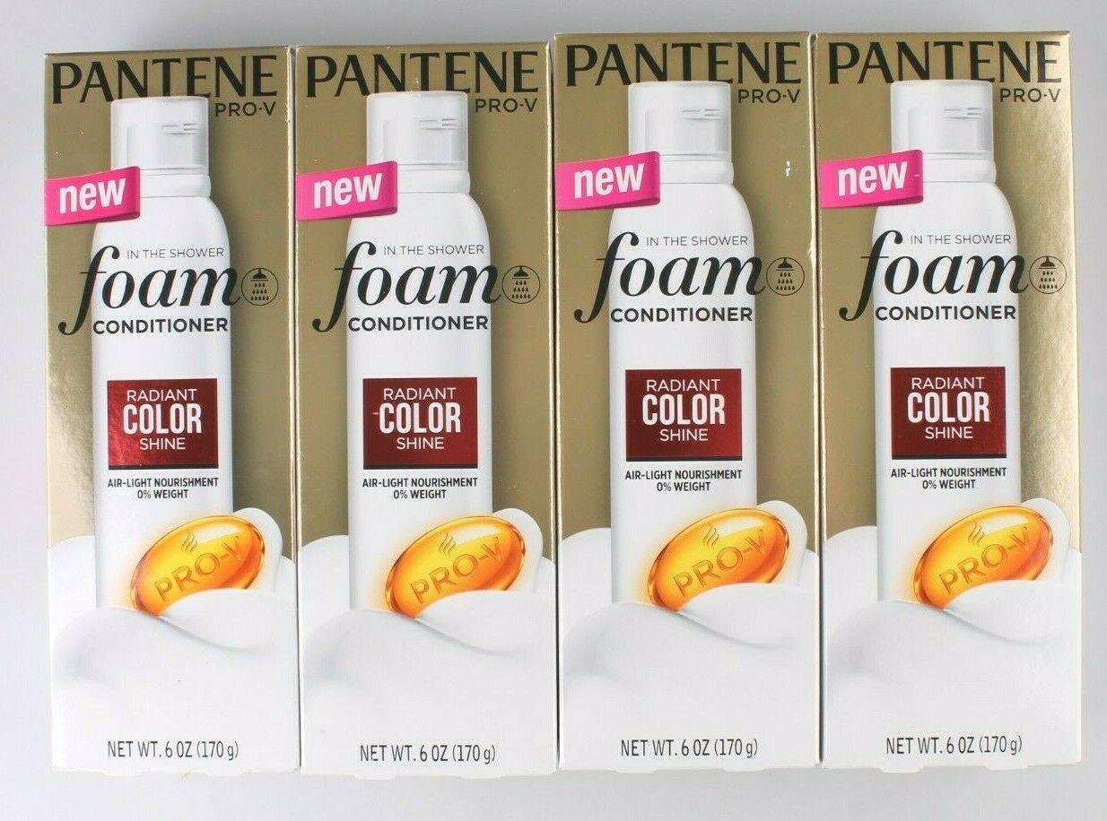 4 Pack Pantene Pro-V in the Shower Radiant Color Shine Conditioner 6 oz