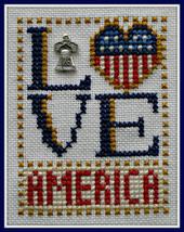 Love America Love Bits cross stitch chart Hinzeit - $6.00