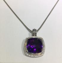 David Yurman Albion Pendant Enhancer with Amethyst and Diamonds, 17 mm - $1,410.00