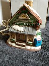 Geo Lefton Christmas Lighted Village 1987 US Post Office #06343 Vintage ... - $44.55