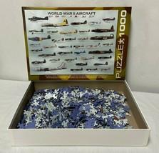 World War II Aircraft 1000 Piece Jigsaw Puzzle EuroGraphics - $21.97