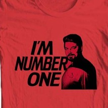 Star Trek T-shirt Free Shipping I'm Number One Will Riker red cotton tee CBS154 image 2