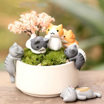 6Pcs DIY Craft Cat Fairy Garden Ornament Miniature Figurine Dollhouse Ho... - $5.90