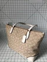 Coach F29958  Outline Signature Zip Tote Jacquard handbag Light Khaki /C... - £75.97 GBP