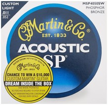 Martin MSP4050SW SP Phosphor Bronze Acoustic Guitar Strings 11-52 Custom... - $11.49