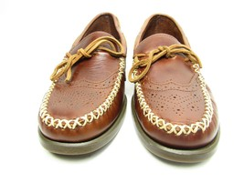 Sebago Campsides Wingtip  Moccasins Mens  Brogue  Brown Leather Shoes Si... - $45.29