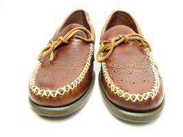 Sebago Campsides Wingtip  Moccasins Mens  Brogue  Brown Leather Shoes Si... - $45.29