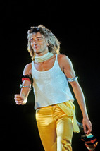 Risnay Rod Stewart in vest yellow leather pants classic 1970's hair chee... - $23.99