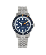 Heritor Automatic Edgard Bracelet Diver's Watch w/Date - Navy - $760.00