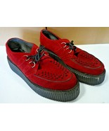 Red Suede Beetle Crusher Shoes  UK Size 11 - $48.93