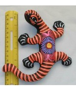"Ceramic Clay Lizard Salamander Figurine Hand-painted Mexican Wall Art 6"" L1 - $16.09"