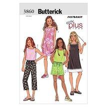 Butterick Patterns B3860 Girls'/Girls' Plus Top, Dress, Shorts & Pants, Size 8 1 - $14.70