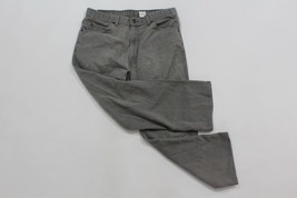 Vintage 90s Levis Mens 36x29 977 Bronze Tab Gray Wash Denim Jeans Pants Cotton - $28.66
