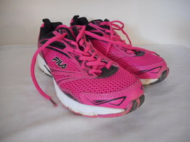 Fila Womens Hot Pink / Black Athletic Shoes Sneakers Size 7 - $29.69