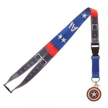 Captain America Texture Suit Up Marvel Comics ID Badge Holder Keychain L... - $11.00
