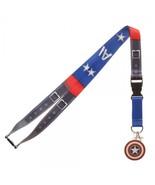 Captain America Texture Suit Up Marvel Comics ID Badge Holder Keychain L... - $11.00