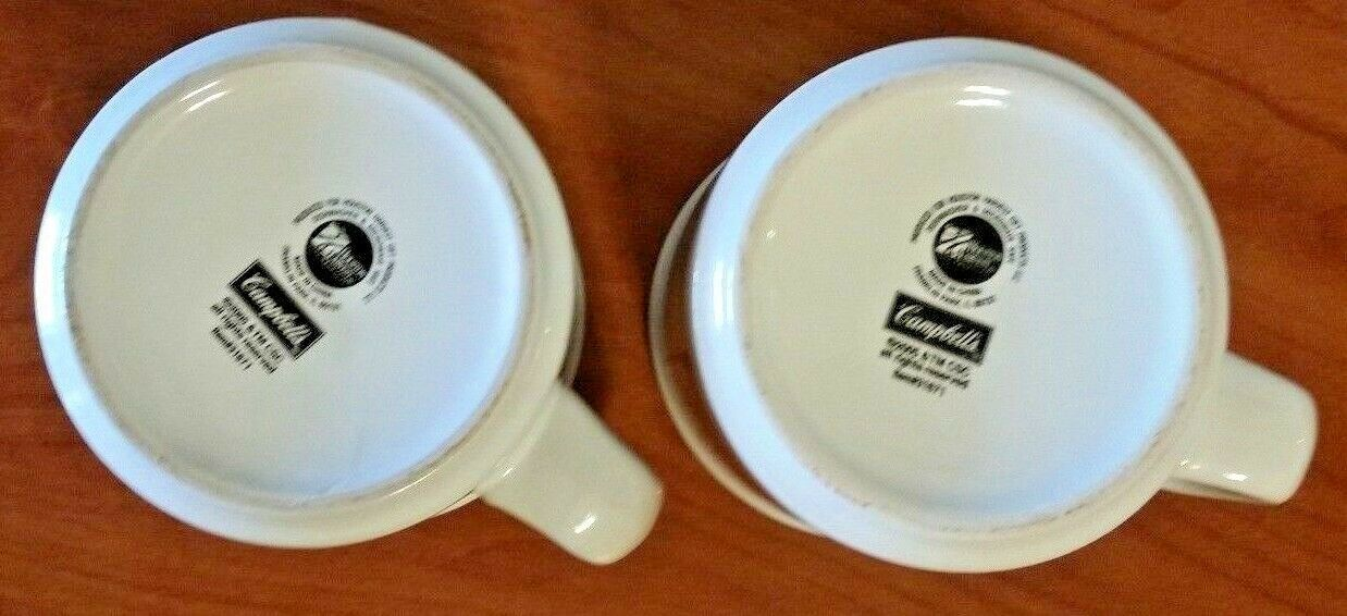 Campbell's Delicious Vegetables Soup Mug Bowl By Houston Harvest 2005 Set Of 2