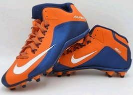 Nike Alpha Pro 2 TD Mid Molded Football Cleats Size 12 Orange/Navy 72944... - $28.50