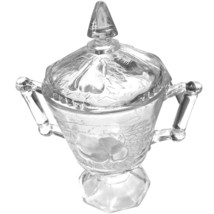 Jeanette Glass Vintage Baltimore Pear Footed Pedestal SUGAR BOWL, with LID - $19.99