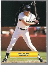 1988 Fleer Standup All Star-None-Will Clark-Giants - $4.44