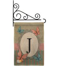 Butterflies J Initial Burlap - Impressions Decorative Metal Fansy Wall Bracket G - $33.97
