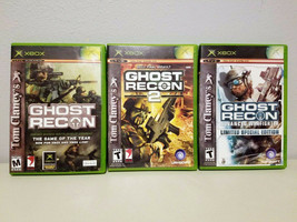 Ghost Recon Xbox Original Game Ghost Recon 1, 2 & Advanced Warfighter Lot of 3 - $13.99