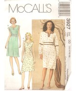Misses Dresses Keyhole Neckline Sewing Pattern Sizes 12-16 McCall's 3927... - $5.99