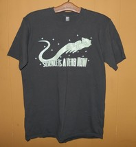 Unisex t shirt Graphic Space Cat Science is a Verb Now Glow in dark Chest 38 SS - $18.81