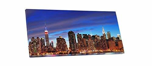 "Primary image for Pingo World 0707Q4YXNOS ""New York Night Skyline Panoramic"" Gallery Wrapped Canva"