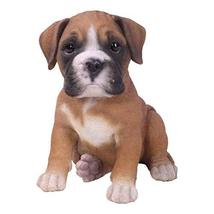 Pacific Giftware PT Realistic Look Statue Brown Boxer Puppy Dog Home Dec... - $24.74