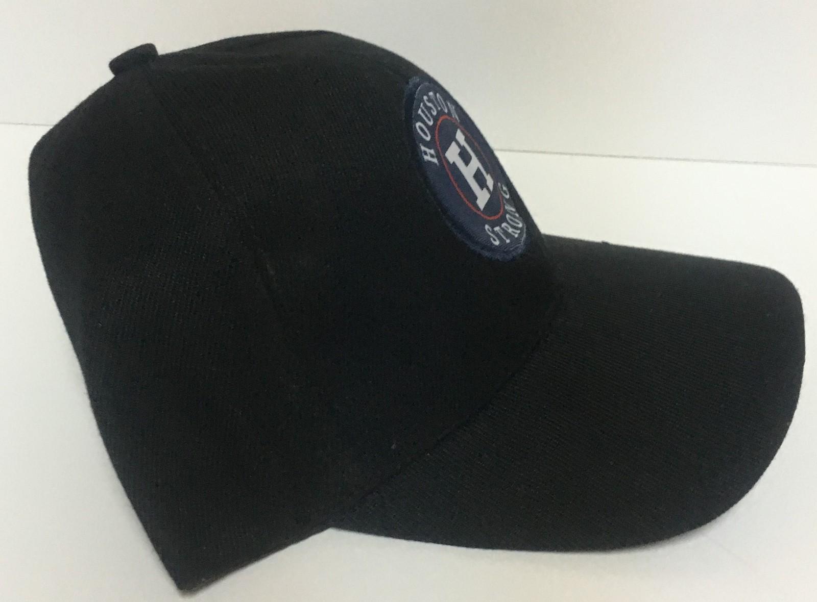 Houston Strong Black Base Ball Hat Cap Adult Size Adjustable