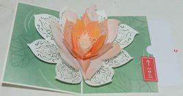 Lovepop LP2426 Lotus Bloom Pop Up Card  White Envelope Cellophane Wrapped image 3