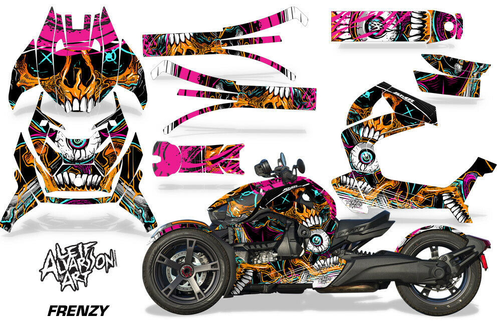 Full Body Wrap Graphic Sticker Decal for Can-Am Ryker 2019 - Frenzy Orange