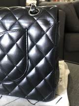 SALE* AUTHENTIC Chanel Quilted Lambskin Classic Medium Black Double Flap Bag SHW image 10