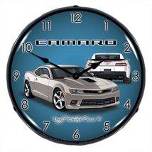 2014 SS Camaro Silver Ice Lighted Clock - $129.95