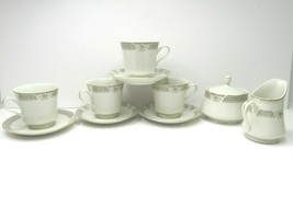 Mikasa Fine Ivory China Richelieu M2002 Tea Cups Saucers Sugar Creamer 1... - $27.59