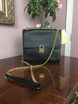 New Michael Kors Mercer Large Black Leather Messenger Bag B2Z - $163.34