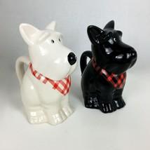 Pair Black & White Scotties MSRF INC Design Studio Mini Storage Jars - $34.65