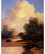 Maxfield Parrish Thunderheads 22x30 Art Deco Print Hand Numbered Ltd. Ed... - $81.09